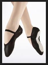 Energetiks adult Ballet Black leather full sole shoe Dance sz3.5B BNWT 53