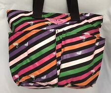 "Stripe 7X11X16"" Roxy Messenger Purse Bag w 20 Handle & 3 Pockets"