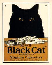 """BLACK CAT SIGARETTE-Pubblicità Retrò 12"""" x 9.5"""" Pubblicità carta stampa C#81"""