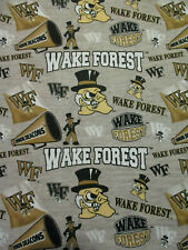 WAKE FOREST WF DEACONS LOGO CHEER COTTON FABRIC BTHY