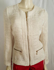 Alfani Zippered Ivory Blazer size 8
