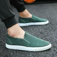 Men's Slip On Comfy Loafers Shoes Breathable Canvas Breathable Casual Shoes size