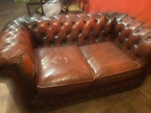 Chesterfield Two Seater Sofa Oxblood