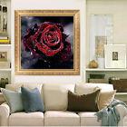 INTENSO BRICOLAJE 5D Rosa Roja Diamante Bordado Pintura Flor Punto De Cruz Kits