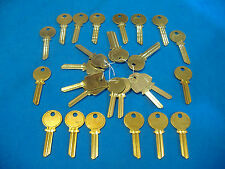 LOT OF 28 KEY BLANKS FIT MEDECO LOCKS NICKEL SILVER & BRASS
