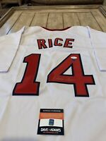Jim Rice Autographed/Signed Jersey COA Boston Red Sox