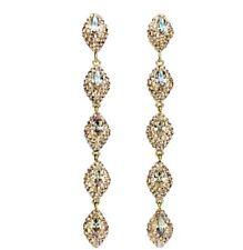 NIB $249 Atelier Swarovski Moselle Mini Drop Pierced Earrings Gold #5414435