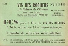 PARIS ETS JULES LEONELLI BON REDUCTION VIN DES ROCHERS