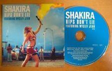 SHAKIRA Hips don't lie 1-track PR0M0 CD Single Card sleeve * Wycleff Jean