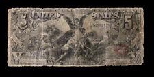 1896 $5 EDUCATIONAL NOTE - Tillman/Morgan FR-268  Well Spent Rarity