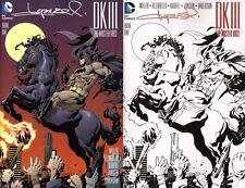 SIGNED SET Aaron Lopresti Batman Dark Knight 3 Master Race 1 Sketch &Reg Variant