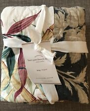 1 Pottery Barn Bari King Pillow Sham Floral Tropical Patchwork Quilted New