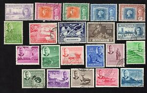 Mauritius 1946-50 21 stamps used
