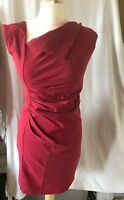NEW YORK LAUNDRY, SIZE SMALL, RED SLEEVELESS SHIFT DRESS, 65% COTTON, PRE-LOVED