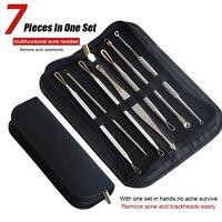 7Pcs Blackhead Remover Comedone Blemish Pimple Extractor Tool Kit Acne Clip