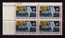 US USA Sc# C76 MNH FVF PLATE # BLOCK  First Man on Moon Earth Space Astronaut