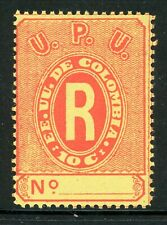 Colombia MNH Back of Book Selections: Scott #F8 10c Red/Orange (1883) CV$2+
