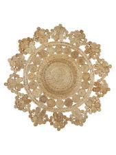 Extra Large Round Jute Rug Seren   Decorative, Rustic, Boho, Designer 150cm