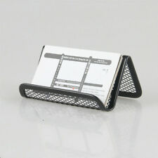 1pc Black Barbedwire Business Card Holder Frame Office Desk Organizer Stand Case
