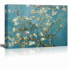 "Almond Blossom by Vincent Van Gogh - Canvas Prints Wall Art- 24"" x 36"""