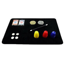 Black Card deck Mat magic tricks Poker & Coin Close Up Card Portable Pad WL