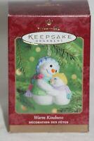 "HALLMARK KEEPSAKE CHRISTMAS ORNAMENT ""WARM KINDNESS"" FINE PORCELAIN 2000"