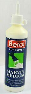 Berol Marvin Medium acrylic adhesive glue - Handy 250ml bottle + Nozzel for Kids