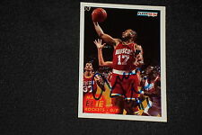 MARIO ELIE 1993-94 FLEER SIGNED AUTOGRAPHED CARD #294 HOUSTON ROCKETS