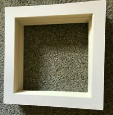 "48 SOFT WHITE SQUARE PICTURE FRAME MOUNTS 10"" X 10"" OVERALL FOR 8X8"" JOB LOT"