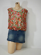 Womens Blouses Say Anything Floral Sleeveless Casual Under Kami Flowers small