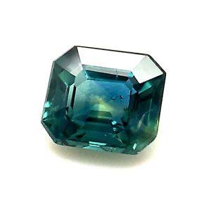 1.02ct Blue Sapphire from Australia, Octagon, Unheated, Natural Gemstone *Video*