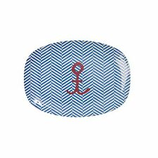 Rice Melamine Small Rectangular Plate in Sailor Stripe Print