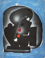 Ladislas Kijno Lithographie Signée Rehaussé Art Abstrait Ecole de Nice