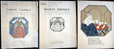 CIRCA 1920 BRUXELLES SAINTE GUDULE MARTHE SIGART COLOR ILLUSTRATIONS + MUSIC