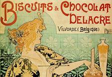 Belguim Chocolate - Biscuits - Deco Advert A3 Art Poster Print
