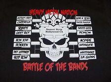 NEW HEAVY METAL HAIR BANDS BRACKET BATTLE T SHIRT Sz S RATT DOKKEN SKID ROW GnR