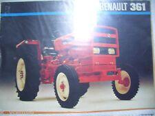 ✪Trecker/Schlepper/Traktor sales brochures Original Prospekt Renault 361