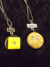 Cheeseburger Best Friends necklace BFF foodie fast food googly eyes new Claires