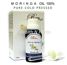 ORGANIC MORINGA OIL 30 ml.  PURED COLD PRESSED NATURAL ANTI WRINKLE SKIN CARE
