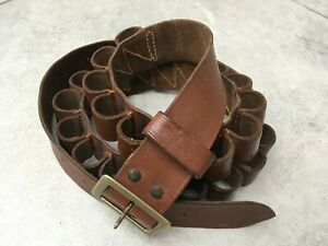Leather Shotgun Cartridge Belt (12-Gauge)