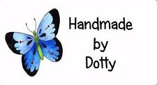 Personalised Mini Stickers labels x 65 - Handmade by - Blue Butterfly