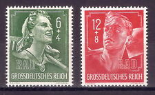 DR Nazi 3rd Reich ww2 Germany Hitler Jugend Young Girl w Swastika ww2 RAD Front