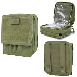MOLLE Map Pouch Document ID Chart Clear Cover Case Carrier - OD GREEN