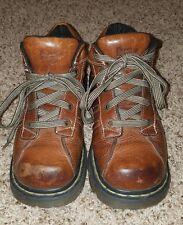 Doc Dr. Martens 2C01 Brown Ankle Lace Up Boots Women's Size 8 Mens 7