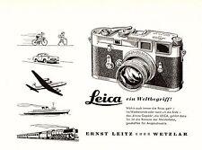 1956 Leica Wetzlar Kamera ein Weltbegriff 14x10 cm original Printwerbung