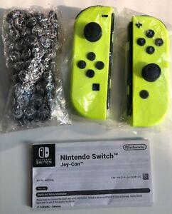 Coppia Joy Con per Nintendo Switch - Giallo Neon - con braccialetti