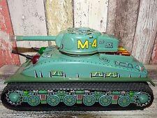 Vintage Super RARE Japanesse Batery Tin Toy Tank Taiyo M-4 WORKING,Old Version
