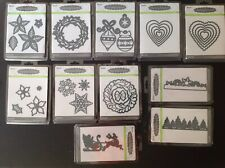 Embossing Die CUT HOLIDAY Stencil Compatible w/ Cuttlebug Sizzix CHRISTMAS CARDS