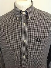 FRED PERRY MENS CHECK SHIRT LARGE