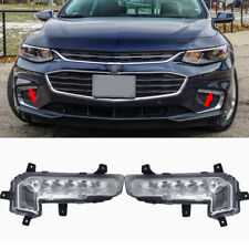 Front LH+RH Fog lamp LED Daytime Running Light Fit For 2016-18 Chevrolet Malibu